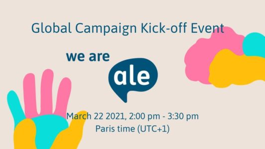WE ARE ALE! Global Campaign Kick-off